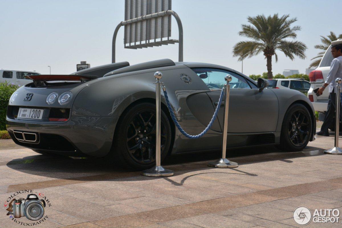 grey bugatti veyron grand sport vitesse in dubai hypercars le sommet de l 39 automobile. Black Bedroom Furniture Sets. Home Design Ideas