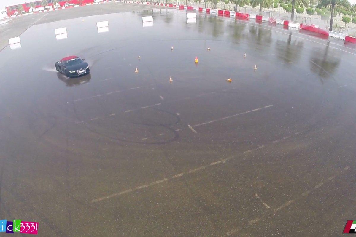 Video Audi R8 Club UAE Drift Event by Patrick3331 hypercars (5)