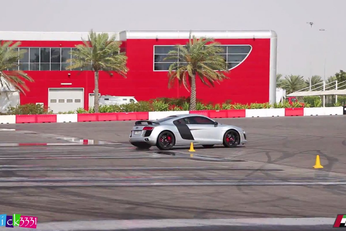 Video Audi R8 Club UAE Drift Event by Patrick3331 hypercars (6)