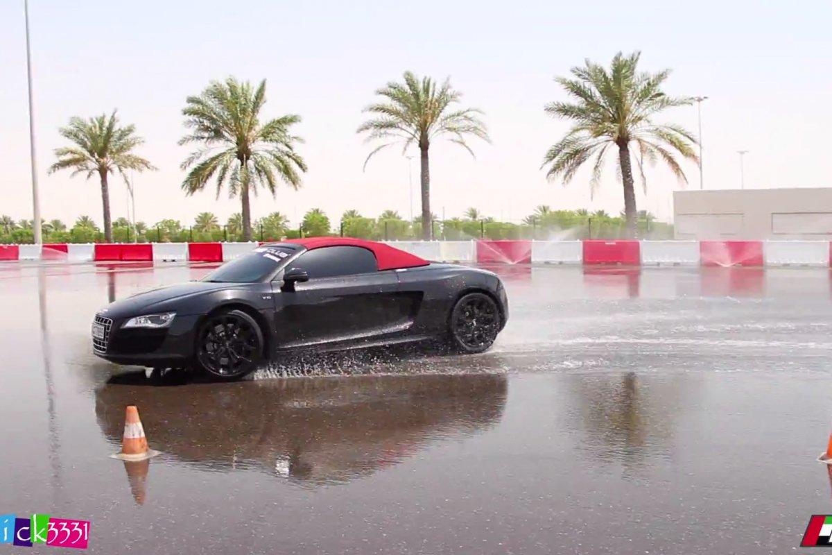 Video Audi R8 Club UAE Drift Event by Patrick3331 hypercars (7)