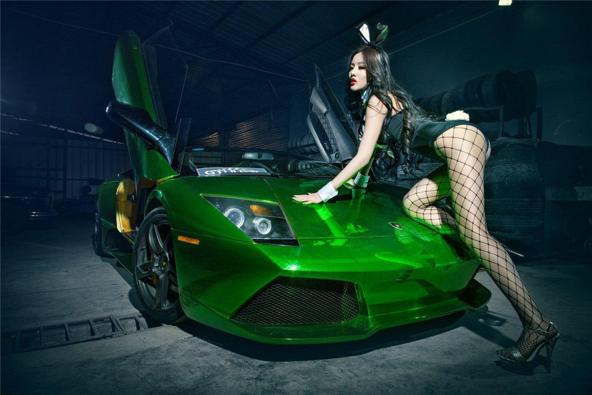 Chrome Green Lamborghini Murciélago LP640-4 Roadster hypercars  (13)