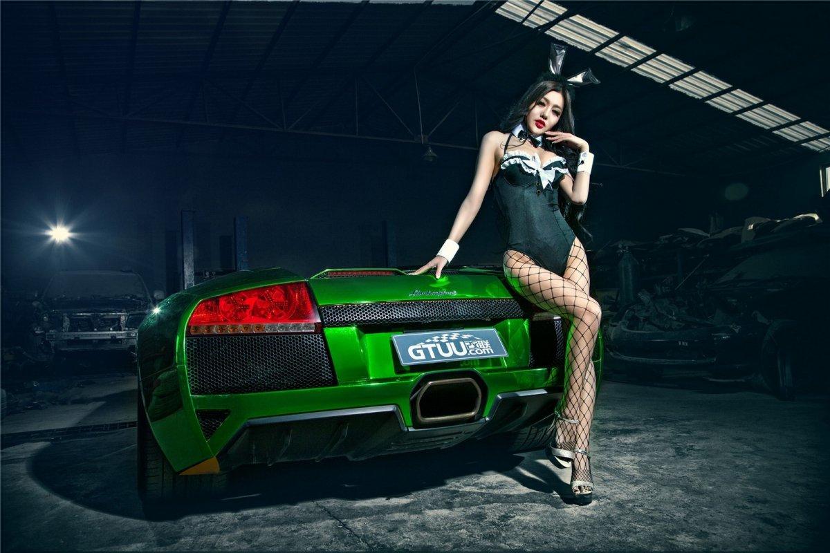 Chrome Green Lamborghini Murciélago LP640-4 Roadster hypercars  (2)