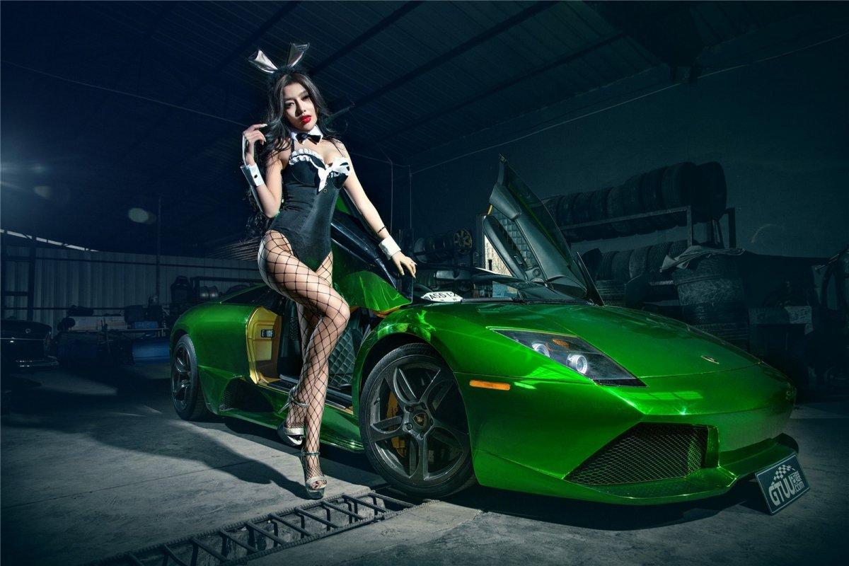 Chrome Green Lamborghini Murciélago LP640-4 Roadster hypercars  (6)