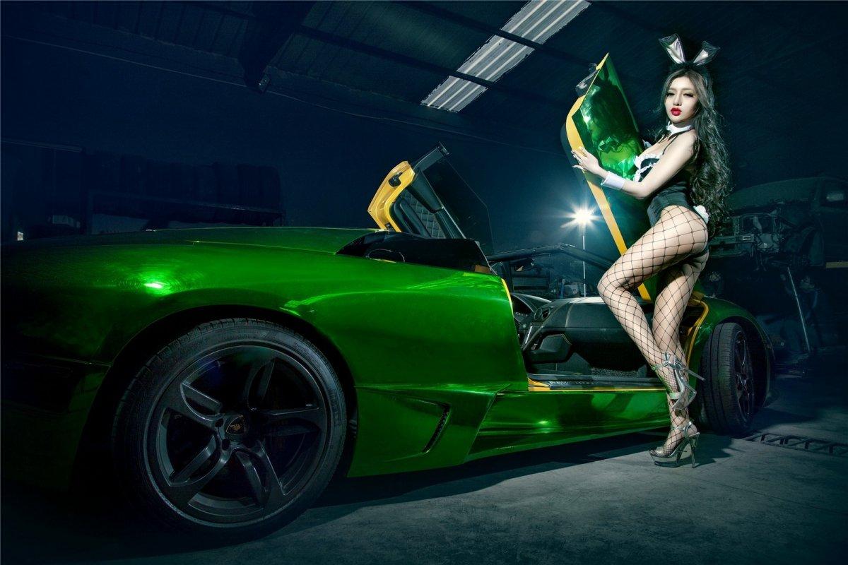 Chrome Green Lamborghini Murciélago LP640-4 Roadster hypercars  (7)