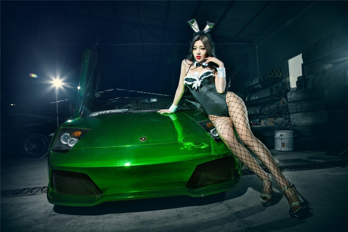 Chrome Green Lamborghini Murciélago LP640-4 Roadster hypercars  (12)