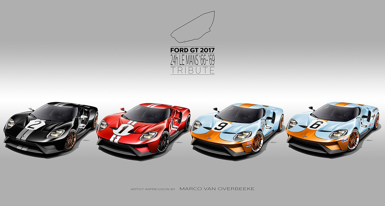 2017 Ford Gt 24 Hours Of Le Mans Ford Gt Le Mans 2017