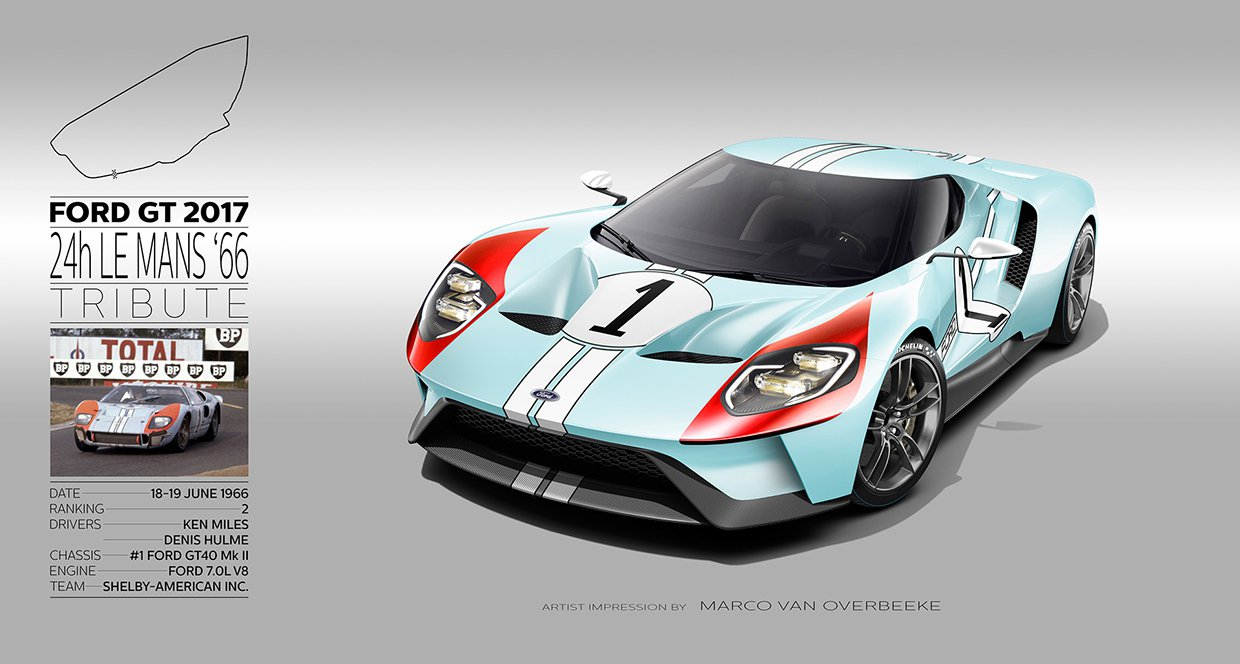 2017 ford gt 66 69 24h le mans livery tribute by marco van overbeeke hypercars le sommet. Black Bedroom Furniture Sets. Home Design Ideas